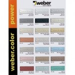 Bảng màu keo chà ron Weber
